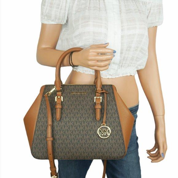 Michael Kors Charlotte L Shoulder Bag MK Brown